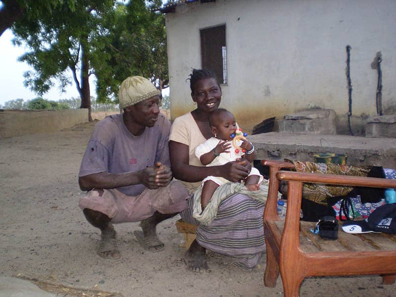 Familie in Gambia