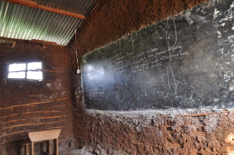 Klassenzimmer Uganda Kibaale St Veronica School